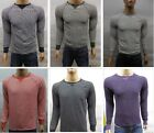 New GAP Mens Waffle Weave Knit Thermal Crewneck Fleece Pullover L/S Tee Shirt