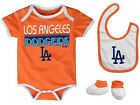Infant Los Angeles Dodgers CCandy Creeper Set 3-Piece Baby Bib Booties Baseball