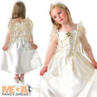 Christmas Angel + Wings Girls Fancy Dress Xmas Nativity Play Kids Childs Costume