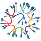 10 Colors 3 in 1 LED Smile Face USB Charger Cable for iPhone/iPad/HTC/Samsung