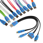 4 in 1 Smile Face LED USB Charger Sync Data Cable F iPhone/iPad/Samsung/Sony/HTC
