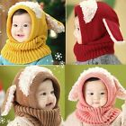 Cute Baby Girl Toddler Hat Dog Knit Autumn Winter Cap Crochet Beanie 5 Colors It