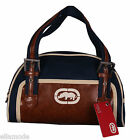 Marc Ecko Red Blue Brown Canvas & PU Leather Handbag BNWT Fast Free UK Shipping
