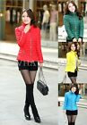 Free Shipping Womens Cotton Down Coat Stand Collar Short Padded Outerwear WFR