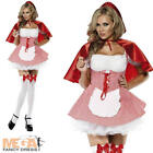 Red Riding Hood Ladies Fairytale Fancy Dress Womens Book Character Costume 6-16