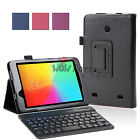 for LG G Pad 7.0 Slim Fit PU Leather Case Cover+Bluetooth Keyboard V400 V410 New