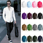 Mens BIG sizes Cotton Shirt Formal Casual long sleeve S M L XL