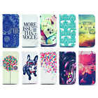 1x For Various Mobile Phone 10 Printed PU Leather Magnetic Flip Case Cover Stand