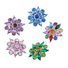1PC Snap Button Fit Snap Bracelet Rhinestone Redbud DIY 26x25mm
