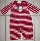NWT Gymboree Snowman Christmas Velour Sleeper Footless Romper 0-3 3-6 NEW