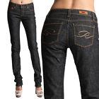 MOGAN Premium BLACK WASHED DENIM PANTS Slim Fit Straight Leg Jeans
