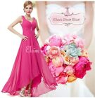 BNWT CERYS Hot Pink Fuchsia Jewel Chiffon Prom Bridesmaid Dress Sizes 6 - 18