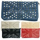New UK Studded Suede Clutch Bag Spiked Union Jack Goth Punk Vintage Designer