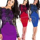 Fashion Women Lady Lace Bandage Bodycon Evening Sexy Party Cocktail Pencil Dress