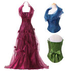 Fashion Sexy Women Long Halter Cocktail Party Dress Formal Evening Ball Gown