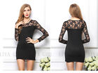 New Sexy Womens Lace Clubwear Cocktail Bodycon Evening Party Pencil Skirt Dress