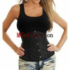 Plus Size Black Floral Pattern Brocade Underbust Corset Waspie Sizes S - XXXXXXL