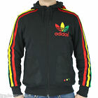 adidas ORIGINALS MENS MEGA RASTA FULL ZIP HOODY JACKET BLACK XS S M FITNESS