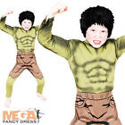 Deluxe Muscle Hulk Boys Fancy Dress Superhero Kids Childrens Costume Outfit New