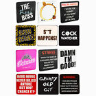 Coasters Novelty Cup Place Mat Set Drink Tea Coffee Funny Assorted Designs