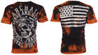Archaic AFFLICTION Mens T-Shirt RACER American Customs USA FLAG Biker UFC $40 a image