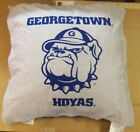 """NCAA Georgetown Hoyas Pillow with Team Logo 27""""X27""""X10"""" Thick"""