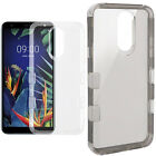 For HTC Desire 816 Rubber Hybrid HARD Case Cover with Snap Tail STAND Accessory