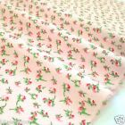 "Pink rosebud wynciette brushed cotton per fq /half metre/ Mt 58 ""wide"