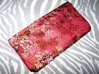 NEW Red,Gold,Grey,Black Paisley,Stripes,Spots Silk Make up bag,purse,Gift,Boho