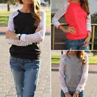 1PC Womens Lady Lace Hooded Sweatshirt Casual Jacket Coat Blouse Tops Durable