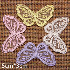 20pcs DIY Venise Lace Trims Embroidered Butterfly Appliques Craft Sewing Xmas