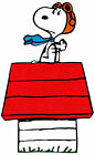 "6.5-10.5"" SNOOPY RED BARON HOUSE  WALL SAFE STICKER CHARACTER BORDER CUT"