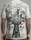 Rebel Saints AFFLICTION Men T-Shirt CARDINAL Cross Fight Biker MMA UFC L-XXL $40