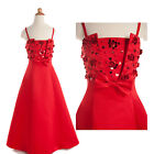 New Red Pageant Bridesmaid Party Princess Evening Gown Formal Flower Girls Dress