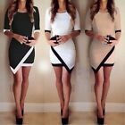 Women Bandage Bodycon Asymmetric Evening Sexy Ladies Party Cocktail Mini Dress