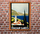 Italian Lakes  - Reproduction Vintage Travel Poster