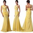 Yellow MERMAID Bodycon Long Evening Gown Party Prom Bridesmaid Cocktail Dresses