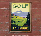 Golf Lausanne - Reproduction Vintage Swiss Travel Poster