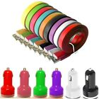 TWIN USB BULLET + FLAT RAPID CHARGER DATA CABLE FOR HTC ONE MINI M4