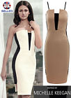 WOMENS LADIES CELEBRITY MICHELLE KEEGAN BODYCON COCKTAIL MIDI STRAPPY DRESS