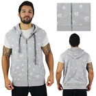 Rocawear 99 & 4Ever Men's Palm Tree Zip Up Sleeveless Hoodie