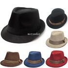 Hot Fashion Unisex Boys Girls Cotton Fedora Trilby Jazz Hat Show Party Dance