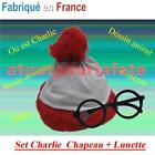 SET KIT CHAPEAU ET LUNETTES WHERE'S WALLY CHARLY CHARLIE DEGUISEMENT BD Dessin