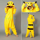 Pikachu Kigurumi Onesie Pajamas Animal Cosplay Costume Adult Onesies Sleepwear