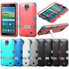 For Samsung Galaxy Mega 2 G750F AT&T Heavy Duty Tuff Hybrid Kickstand Case Cover