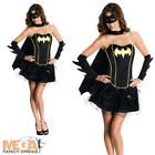 Sexy Batgirl Fancy Dress Ladies Superhero Corset Style Womens Costume UK 6-14