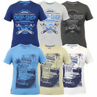Mens T Shirt Top GRAPHIC PRINT South Shore Crew Neck Short Sleeved Summer New