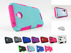 for HTC Desire 510 512 | Rubberized Mesh Hard/Soft Phone Case Cover+PryTool