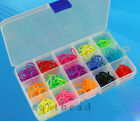 Adjustable Plastic Jewelry Storage Box Case Craft Organizer Beads 15/10 Slots