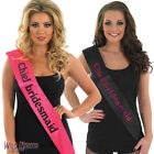 HEN NIGHT PARTY CHIEF BRIDESMAID PINK AND BLACK SASH
